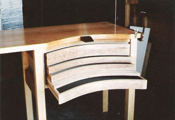 Custom Jeweller's Bench in Maple and Cherry