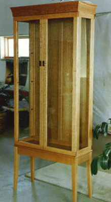 Red Oak Display Cabinet